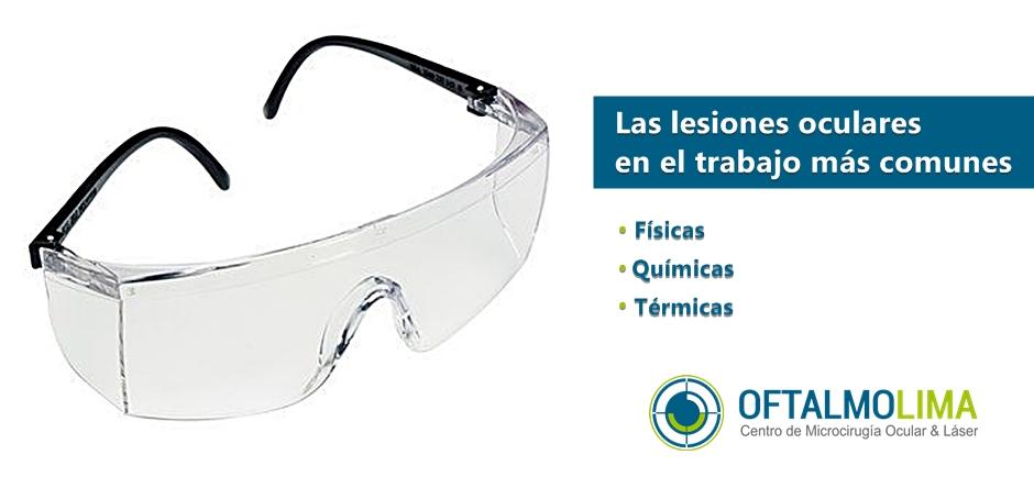 Las lesiones oculares en el trabajo más comunes