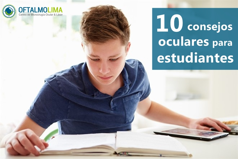 10 consejos oculares para estudiantes