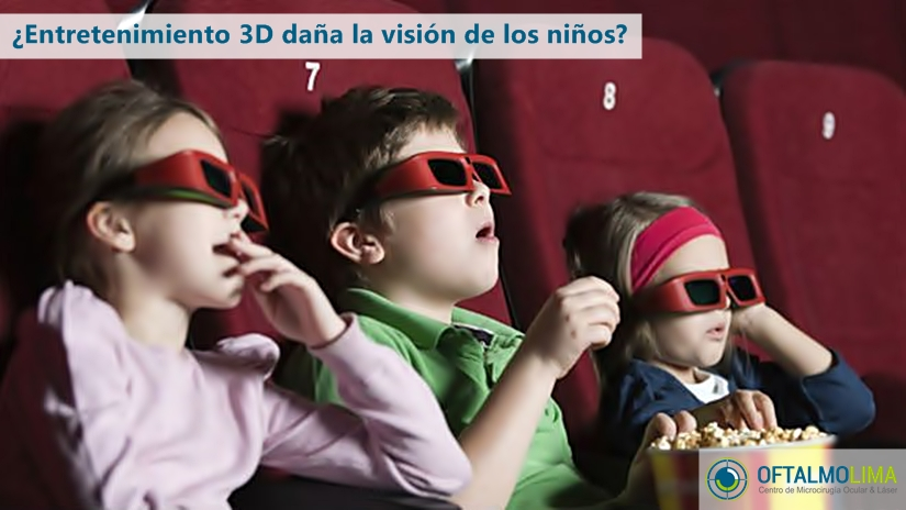 ¿Entretenimiento 3D daña la visión de los niños?