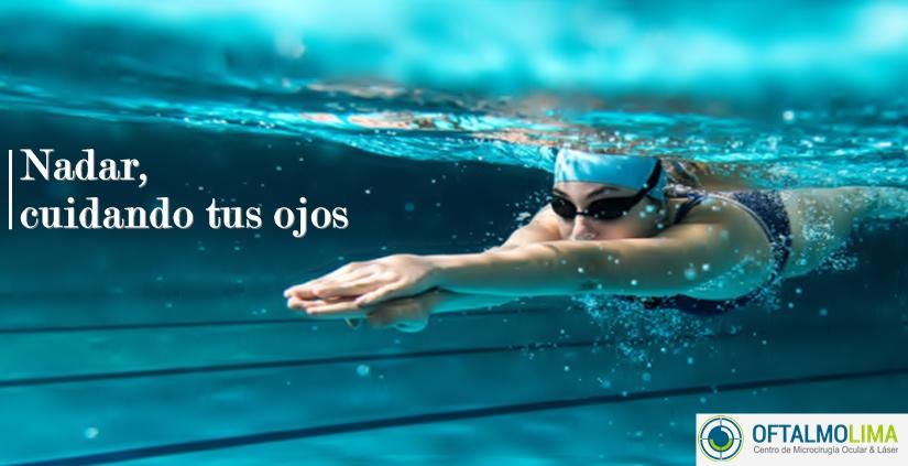 Nadar, cuidando tus ojos