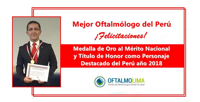 Dr. Mauricio Miranda recibió Premio al Mérito Nacional 2018