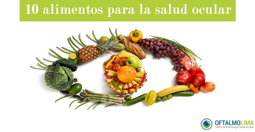10 alimentos necesarios para la salud visual