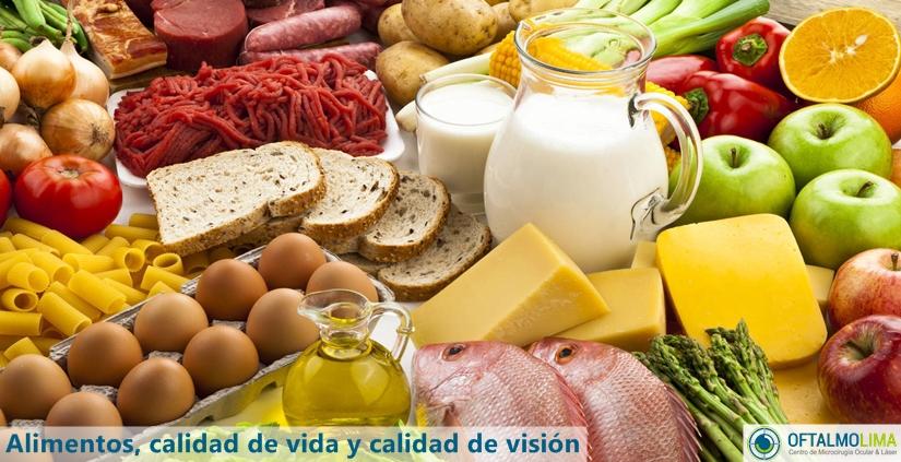 Alimentos, calidad de vida y calidad de visión