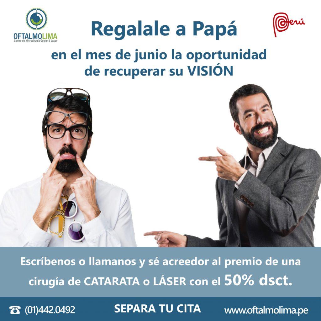 GANA EL 50% DSCTO EN CIRUGÍAS POR EL MES DE PAPÁ