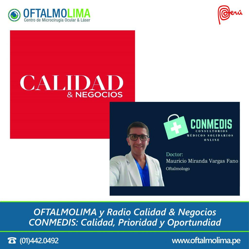 OFTALMOLIMA y Radio Calidad & Negocios