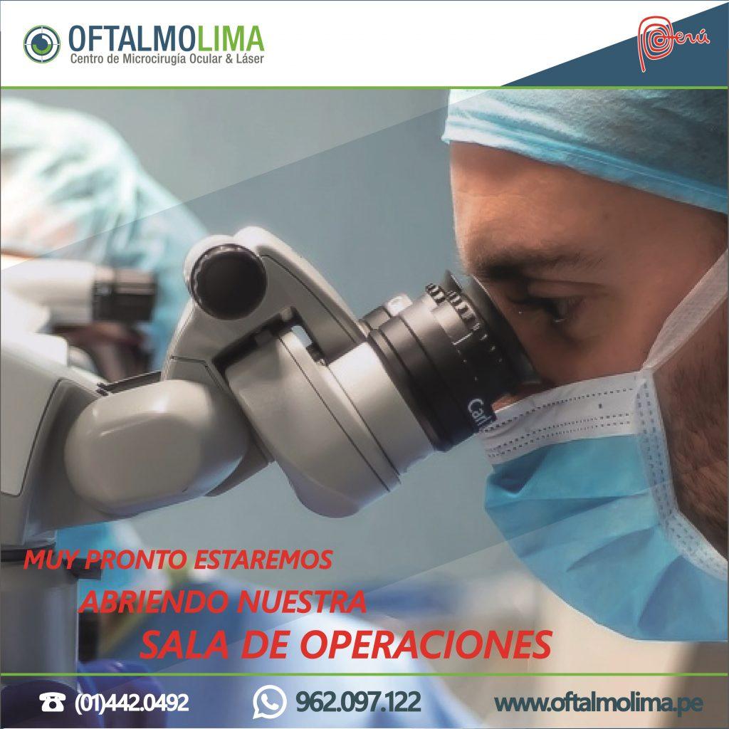OFTALMOLIMA MUY PRONTO ABRIRA SALA DE OPERACIONES